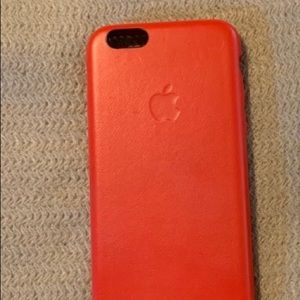 Apple iPhone 6/6s Leather Case Product (RED)